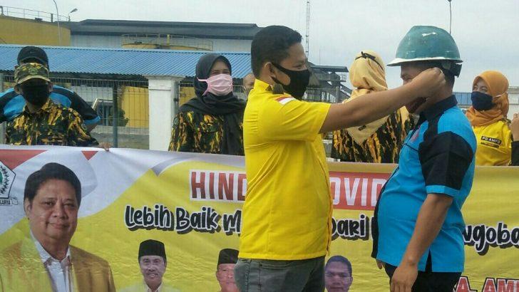 Tanpa Lelah AMPG Rohil Terus Bergerak, Bagi 1.000 Masker Untuk Masyarakat